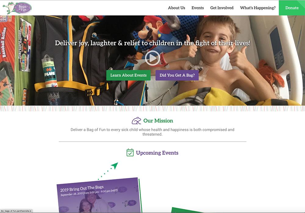 Bags of Fun Website Screenshot